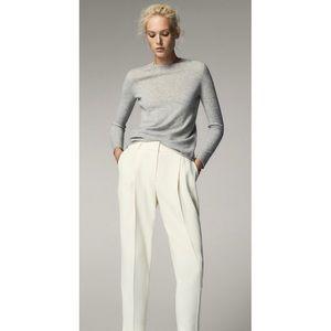 NEW Massimo Dutti Ivory Slim Trouser Pants